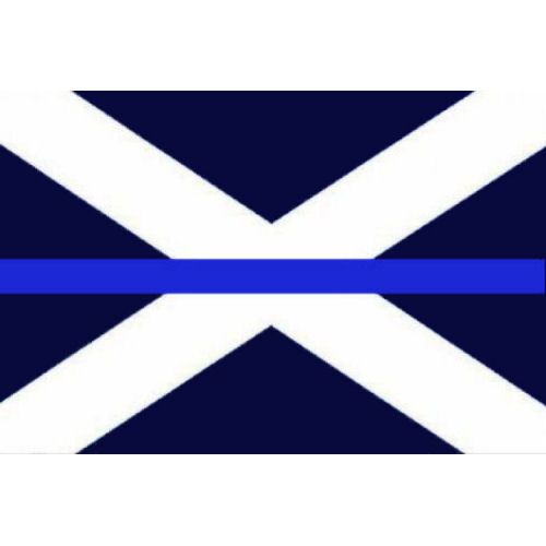 Thin Blue Line Scotland Scottish Saltire Flag Tac Vest Badge TBL04S with Velcro,